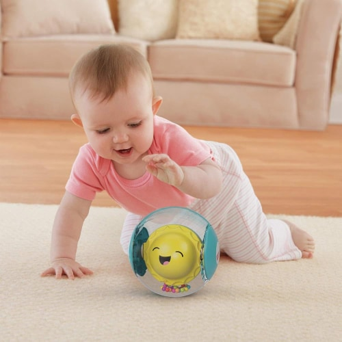 Fisher-Price Hello Sunshine Rattle Ball Perspective: top