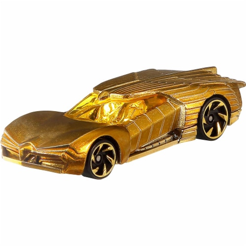 Mattel Hot Wheels DC Universe Golden Armor Character Car Perspective: top