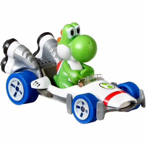 Mattel Hot Wheels® Mario Kart Yoshi B-Dasher Vehicle Perspective: top
