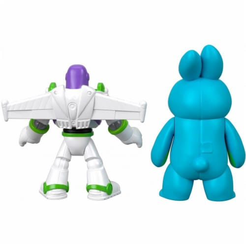Imaginext® Disney Pixar Toy Story 4 Bunny and Buzz Lightyear Figures Perspective: top