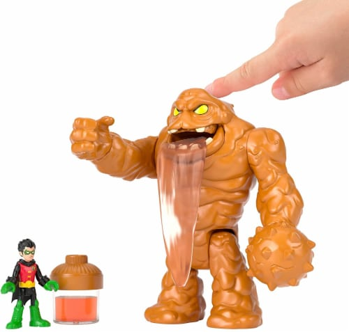 Imaginext Fisher-Price DC Super Friends - Oozing Clayface & Robin Perspective: top