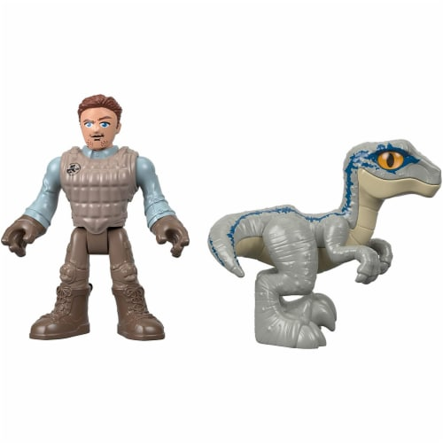 Fisher-Price® Imaginext® Jurassic World Owen & Blue the Velociraptor Action Figure Set Perspective: top