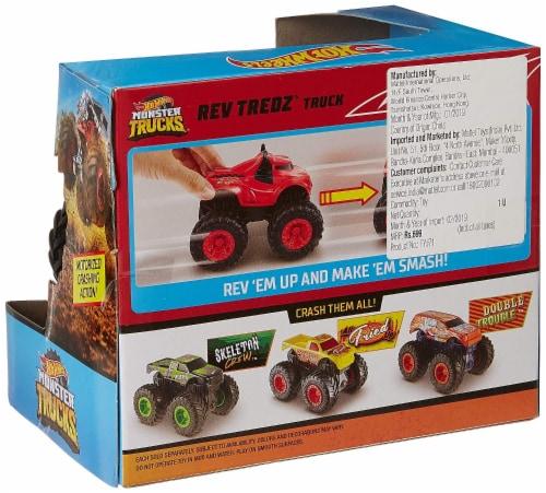 Mattel Hot Wheels® Monster Trucks Rev Tredz Steer Clear Vehicle Perspective: top