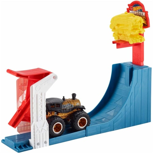 Mattel Hot Wheels® Monster Trucks Big Air Breakout Playset Perspective: top