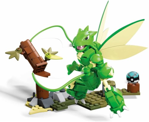 Pokemon Mega Construx 188 Piece Building Set | Slashing Scyther Perspective: top