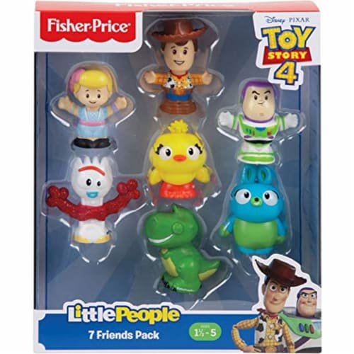 Fisher Price Toy Story 4 Little People 7 Friends Pack Perspective: top