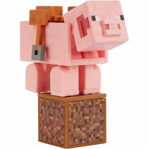 Minecraft Comic Maker Pig Action Figure Perspective: top