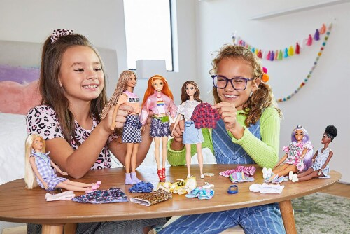 Barbie Tops Shorts Skirt and Doll Accessories - Floral & Pastel Perspective: top