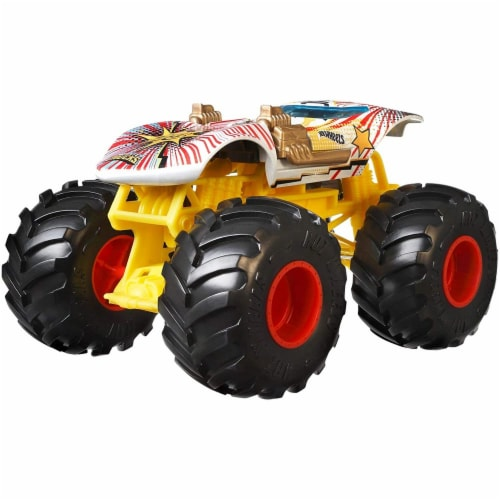 Mattel Hot Wheels® Monster Trucks Giant Wheels Twin Mill Vehicle Perspective: top