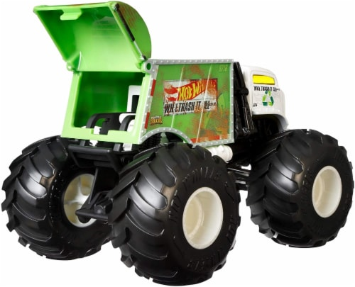 Mattel Hot Wheels® Monster Trucks Will Trash It All Vehicle Perspective: top