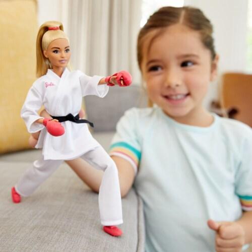 Mattel Barbie® Tokyo 2020 Karate Doll Set Perspective: top