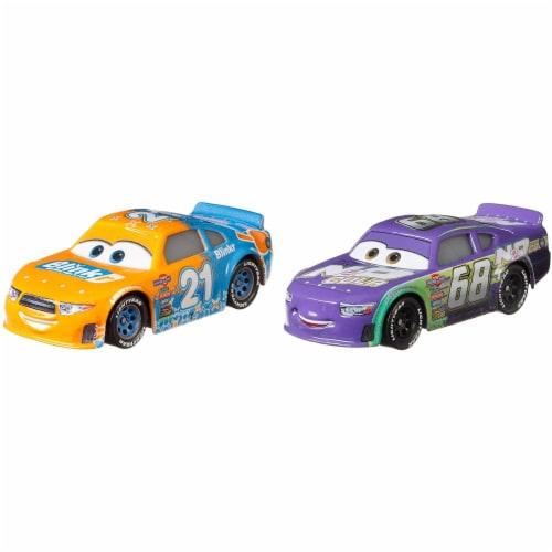 Disney Pixar Cars Speedy Comet and Parker Brakeston Race Toys Perspective: top