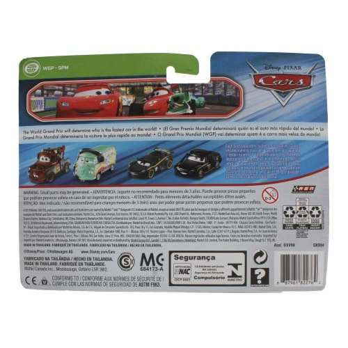 Mattel Disney Pixar Cars Race Team Mater & Fillmore Racing Toys With Headsets Perspective: top