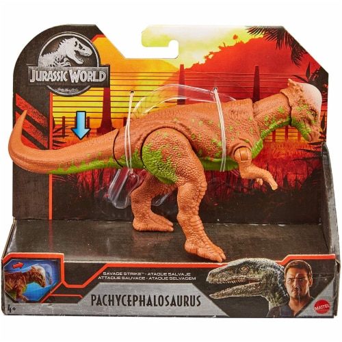 Jurassic World Savage Strike Pachycephalosaurus Figure Perspective: top