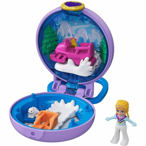 Mattel Polly Pocket Tiny Compact Playset - Assorted Perspective: top