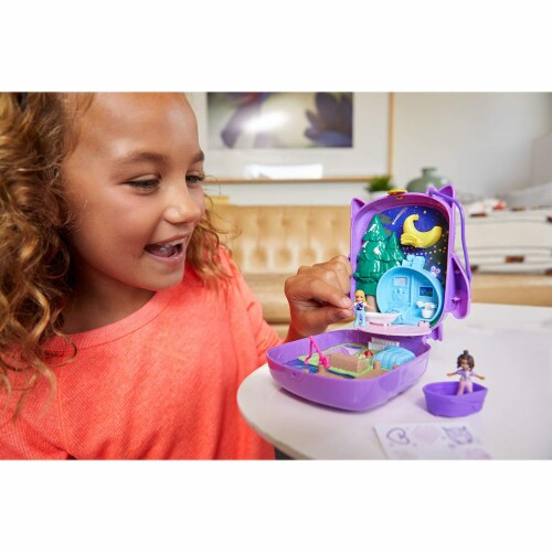 Polly Pocket Pocket World Owlnite Campsite Compact Play Set Perspective: top