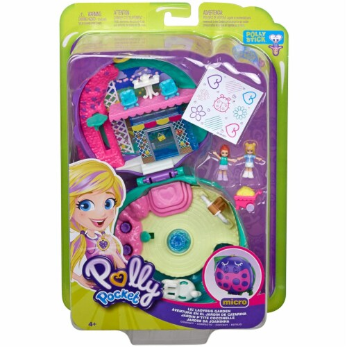Polly Pocket Pocket World Lil' Ladybug Garden Compact Playset Perspective: top