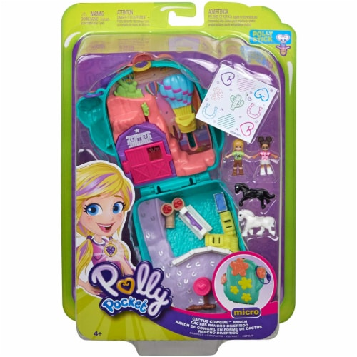 Polly Pocket Pocket World Cactus Cowgirl Ranch Compact Playset Perspective: top