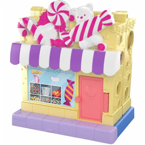 Pollyville Candy Store with 4 Floors, 2 Dolls and 5 Accessories Perspective: top