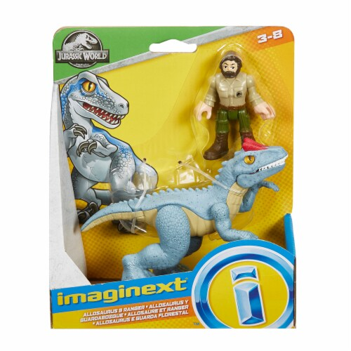 Fisher-Price® Imaginext Jurassic World Allosaurus Dinosaur & Ranger Action Figures Perspective: top