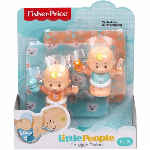 Fisher-Price Little People Snuggle Twins Figure Set for Toddlers, Blonde Perspective: top