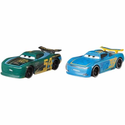 Disney Pixar Cars Herb Curbler & Michael Rotor Toy Racers Perspective: top