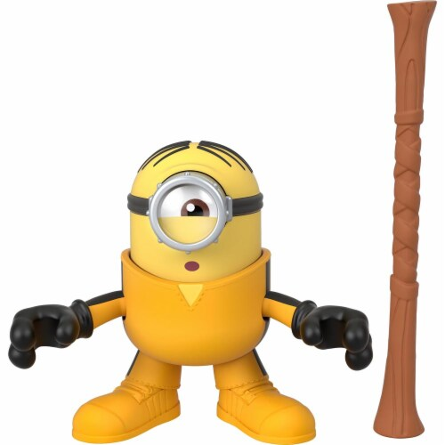 Fisher Price Despicable Me Minions: Rise of Gru Imaginext Stuart with Staff Mini Figure Perspective: top