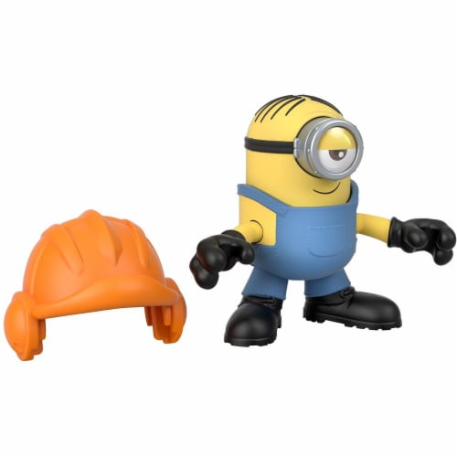 Fisher Price Despicable Me Minions: Rise of Gru Imaginext Stuart with Hard Hat Mini Figure Perspective: top