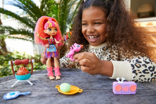 Mattel Cave Club Wild About BBQs Emberly Doll and Playset Perspective: top