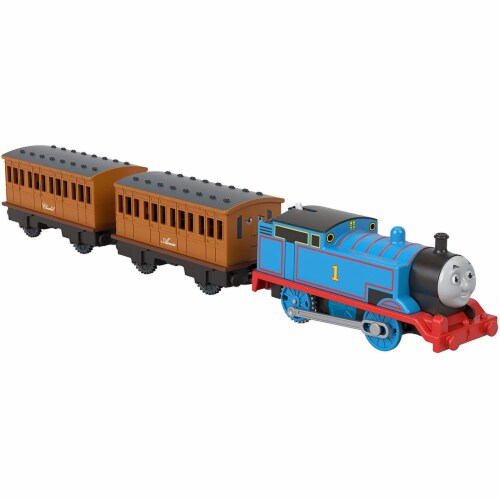 Thomas & Friends Fisher-Price Thomas Annie & Clarabel Motorized Toy Train Perspective: top