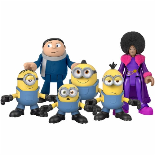 Fisher-Price Imaginext Minions Figure Pack, set of 6 film character figures Perspective: top