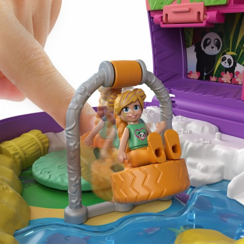 Mattel® Polly Pocket™ Elephant Adventure Compact Playset Perspective: top