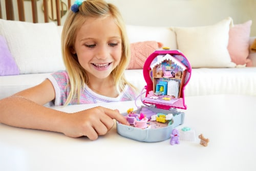 Mattel® Polly Pocket™ Candy Cutie Gumball Compact Playset Perspective: top