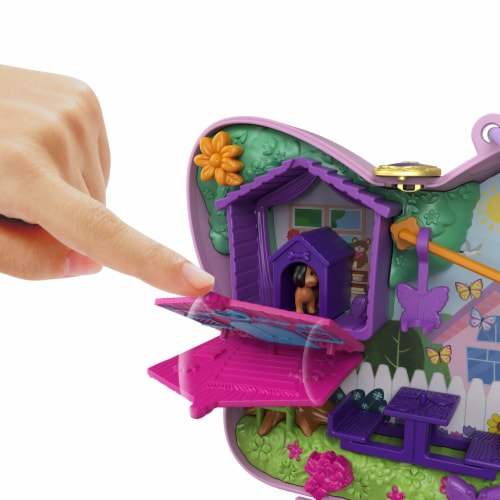 Mattel® Polly Pocket™ Backyard Butterfy Compact Playset Perspective: top