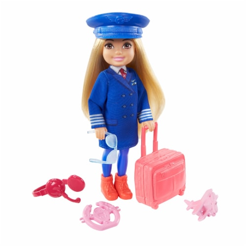 Barbie® Chelsea™ Career Doll Flight Attendant Doll Perspective: top