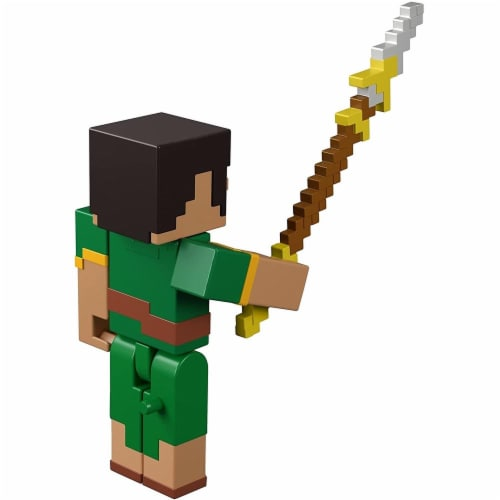 Minecraft Dungeons 3.25-in Collectible Jade Battle Figure and Accessories Perspective: top