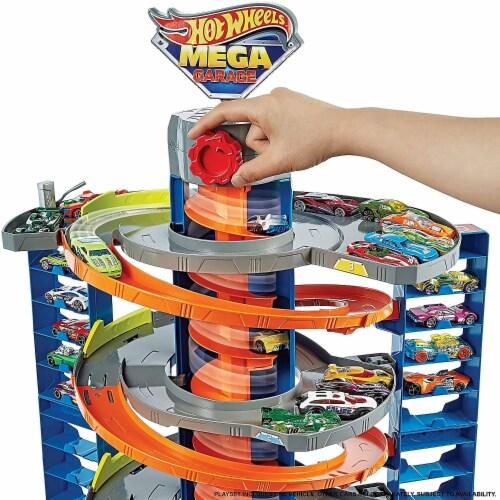 Mattel™ Hot Wheels® City Mega Garage Playset Perspective: top