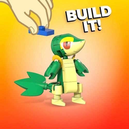 Mega Construx Pokemon Snivy Construction Set, Building Toys for Kids Perspective: top