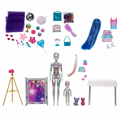 Mattel Barbie® Color Reveal Surprise Party Dolls and Accessories Perspective: top