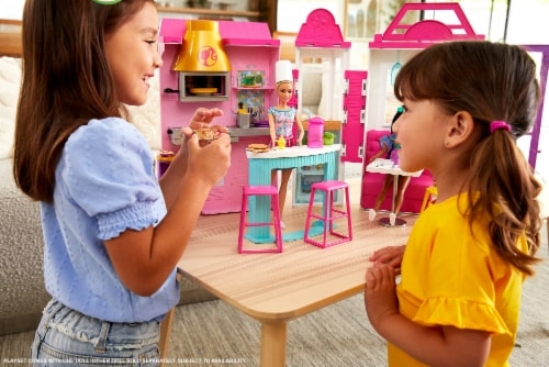 Mattel Barbie® Cook 'n Grill Restaurant Doll and Playset Perspective: top