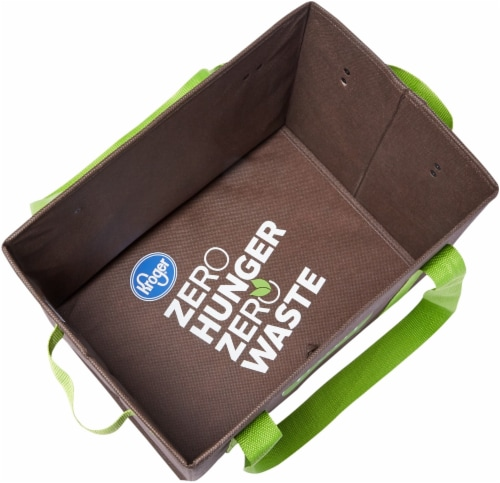 Earthwise Simple Truth Reusable Box Tote - Brown/Green Perspective: top