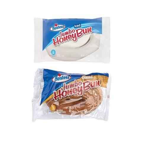 Hostess Variety Pack | Honey Buns, Coffee Cake, Donettes, Cakes, and Danish | 12 Packs Perspective: top