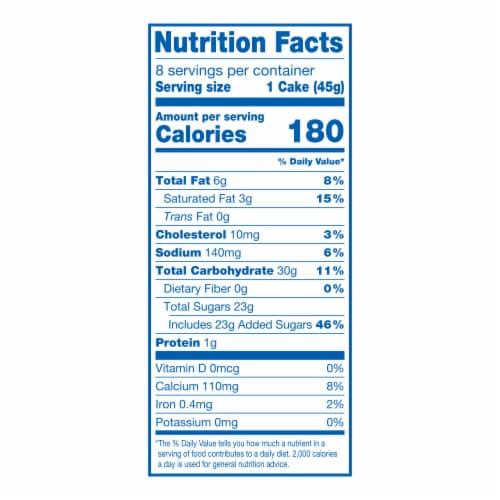 Hostess Spring Limited Edition Vanilla CupCakes Perspective: top