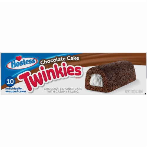 Hostess Chocolate Cake Twinkies Perspective: top
