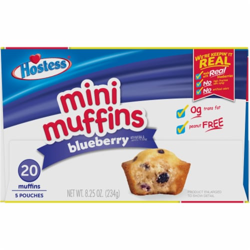 Hostess Blueberry Mini Muffins 20 Count Perspective: top