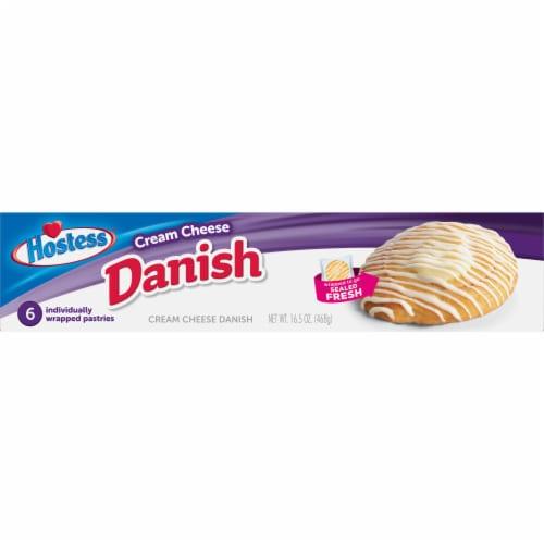 Hostess Cream Cheese Round Danish 6 Count Perspective: top