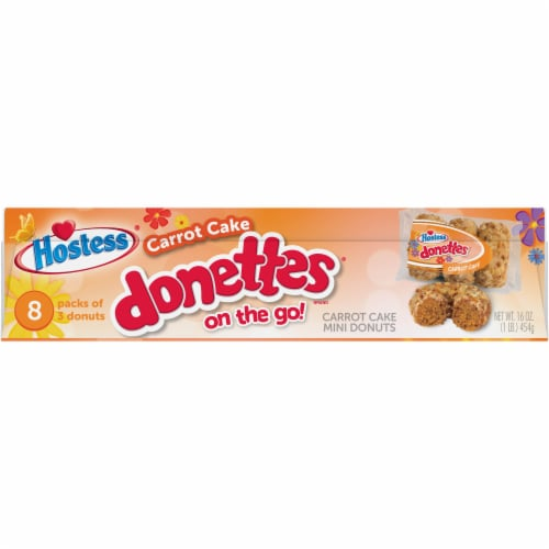 Hostess Limited Edition Carrot Cake Donettes On The Go Perspective: top