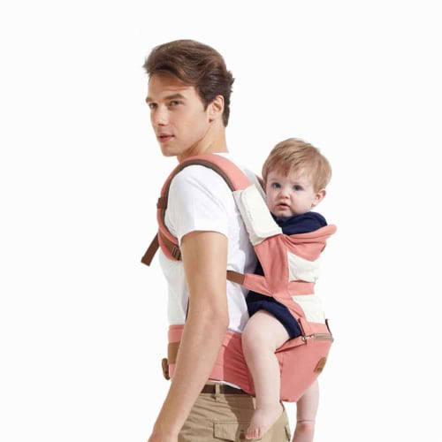 Karma Baby Ergonomic Baby Carrier Sling - Pink Perspective: top