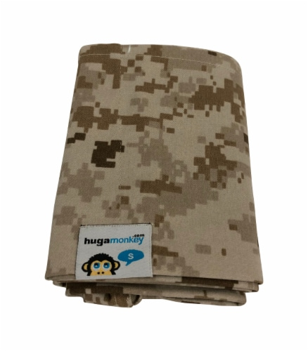 HugaMonkey Camouflage Brown Military Baby Sling - Extra Large Perspective: top