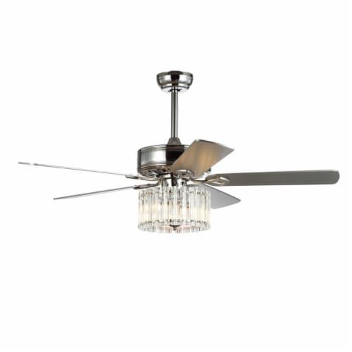 Dresher Ceiling Light Fan Chrome Perspective: top